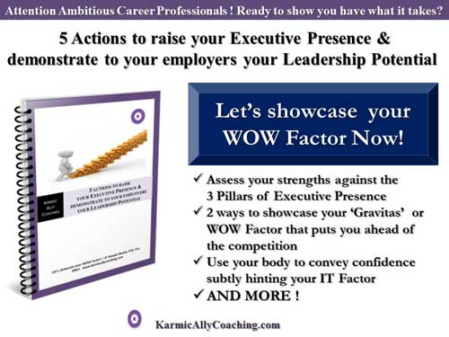 Karmic Ally Coaching Executive Presence Workbook Offer
