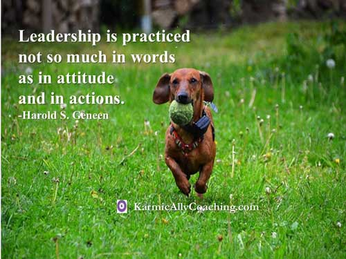 Leadership requires attitude and action