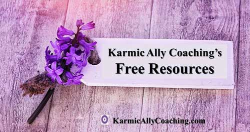Free Resources for professional development at Karmic Ally Coaching