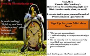 Karmic Ally Coaching's Procrastination Mini Class