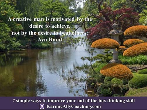 Ayn Rand Quote on creative people