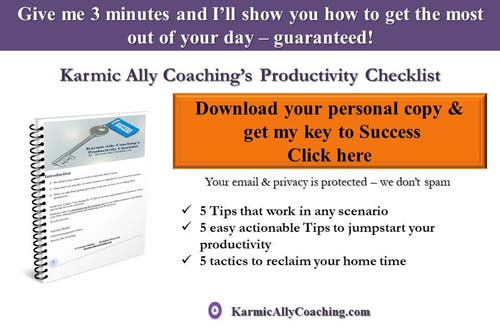 Karmic Ally Coaching's Productivity Checklist